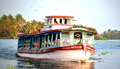 KSWTC Boat Services-Kumarakom-Kerala-India