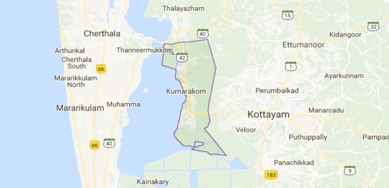 kumarakom map