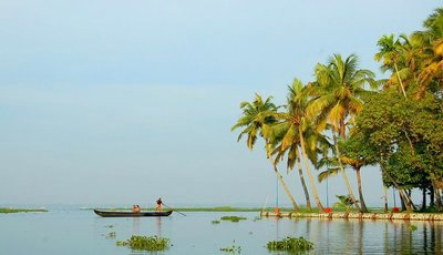 Kumarakom Backwaters, fisherman