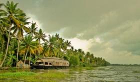Houseboat in backwater