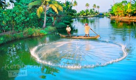 Fishing in kumarakom backwaters