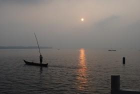 Boatman on Vembanad Lake